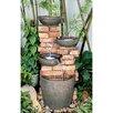 Design Toscano Stacked Bricks Cascading Garden Fountain with Light
