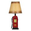 "Design Toscano Fuel Chief Gas Pump Sculptural 19"" H Table Lamp with Empire Shade"