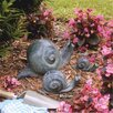 Design Toscano 3 Piece Snail Garden Statues Set