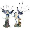 Design Toscano 2 Piece Azure and Sapphire, The Pepperwand Fairy Statue Set