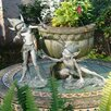 Design Toscano Sling and Stretch Garden Pixie Statue (Set of 2)