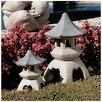 Design Toscano Pagoda Lantern Statue (Set of 2)