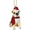 Design Toscano Bulldog Holiday Dog Ornament Sculpture