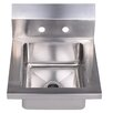 "Whitehaus Collection Noah's 14"" x 16.5"" Single Bowl Drop-In Hand Kitchen Sink"