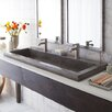 "Native Trails, Inc. Trough 48"" Stone Bath Sink"