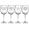 Susquehanna Glass Seashore Wine Glass (Set of 4)
