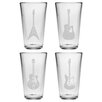 Susquehanna Glass Guitar Pint Glass (Set of 4)