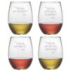 Susquehanna Glass Trust Me Stemless Wine Glass (Set of 4)