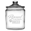 Susquehanna Glass 64 Oz. Rescued is My Favorite Breed Half Gallon Jar with Lid
