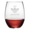 Susquehanna Glass Queen Bee Stemless Wine Glass (Set of 4)