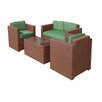 DC America La Fleur 4 Piece Deep Seating Group with Cushion