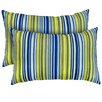 Greendale Home Fashions Vivid Stripe Throw Pillow (Set of 2)
