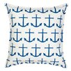 Greendale Home Fashions Anchor Repeat Cotton Canvas Throw Pillow