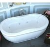 """Spa Escapes Vivara 71"""" x 34"""" Oval Freestanding Air & Whirlpool Water Jetted Bathtub"""