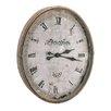 "BIDKhome Oversized 23.3""  Wood / Glass Metro Clock"