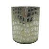 BIDKhome Decorative Glass Wavy Etch Cylinder (Set of 2)