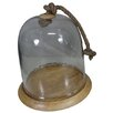 BIDKhome Fall Wood and Glass Cloche