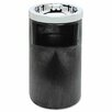 Rubbermaid Commercial Products Smoking Urn with Ashtray and Metal Liner, 19.5H x 12.5 Diameter, Black, 1 EA