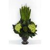 Bougainvillea Metal Trophy Small Vase with Pensularia, Banksia and Hydrangea