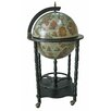 Merske LLC Firenze Italian Style Floor Globe Bar with Twisted Floor Stand