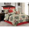 Luxury Home Floral 8 Piece Comforter Set