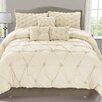 Luxury Home Cosmo 6 Piece Smocked Comforter Set