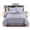Luxury Home Lara 6 Piece Queen Comforter Set