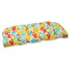Pillow Perfect Paint Splash Outdoor Loveseat Cushion