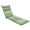 Pillow Perfect Zig Zag Outdoor Chaise Lounge Cushion