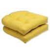 Pillow Perfect Fresco Outdoor Dining Chair Cushion (Set of 2)