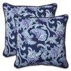 Pillow Perfect Lahaye Indigo Indoor/Outdoor Throw Pillow (Set of 2)