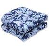 Pillow Perfect Lahaye Indigo Outdoor Dining Chair Cushion (Set of 2)
