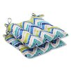 Pillow Perfect Marquesa Marine Outdoor Dining Chair Cushion (Set of 2)