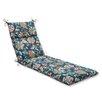 Pillow Perfect Telfair Peacock Outdoor Chaise Lounge Cushion