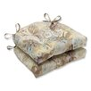 Pillow Perfect Windflower Outdoor Dining Chair Cushion (Set of 2)