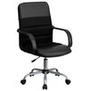 Flash Furniture Mid-Back Mesh and Leather Chair