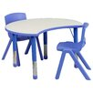 "Flash Furniture 35.5"" x 25.13"" Kidney Classroom Table"