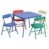 Flash Furniture Kids 5 Piece Folding Square Table and Chair Set