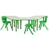 "Flash Furniture 37.75"" x 21"" Trapezoidal Classroom Table"