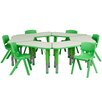 "Flash Furniture 37.75"" x 21"" Kidney Classroom Table"
