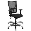 Flash Furniture Hercules Series Mesh Drafting Stool with Arms
