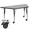 "Flash Furniture Mobile 57.5"" x 26.25"" Trapezoidal Classroom Table"