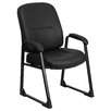 Flash Furniture Hercules Series Leather Guest Chair with Sled Base