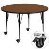 Flash Furniture Mobile Round Classroom Table