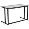 Flash Furniture Computer Desk with Pedestal Frame