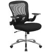 Flash Furniture Mid-Back Mesh Conference Chair with Padded Seat And Height Adjustable Flip-Up Arms