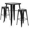 Flash Furniture 3 Piece Bar Table Set