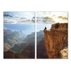 Antique Revival Top of the World 2 Piece Photographic Print Set