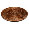 "ChargeIt! by Jay 13"" Round Rattan Charger Plate (Set of 4)"
