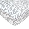 American Baby Company Heavenly Soft Chenille Gray Zigzag Fitted Crib Sheet